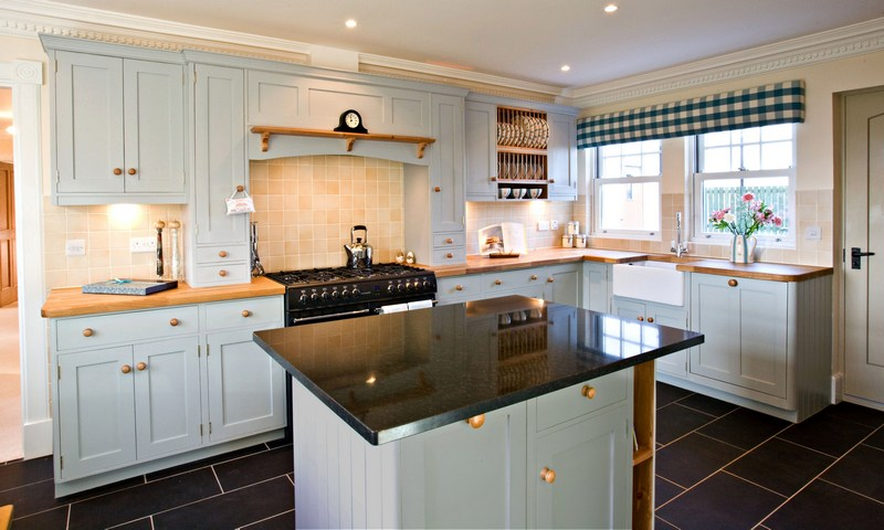 1 Shaker Kitchen Painted Wood Worktops Home