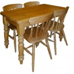 Hand made in the Uk, quality solid wood table and chairs